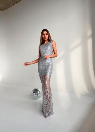 Блестящее платье макси💓3 фото