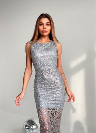 Блестящее платье макси💓4 фото