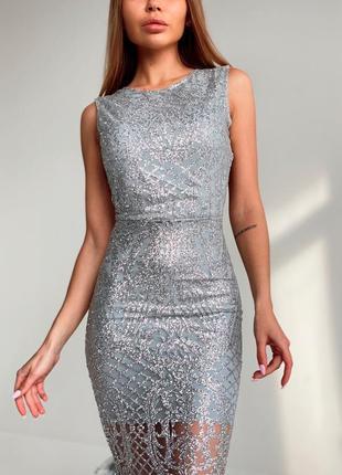 Блестящее платье макси💓2 фото