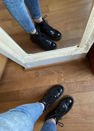 Кожаные ботинки pepe jeans оригинал унисекс