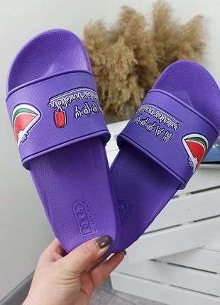 Шлепки женские фиолетовые2 фото