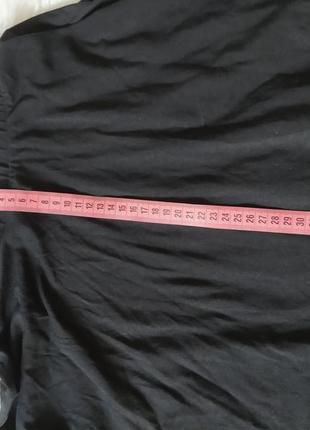 Черная юбка-солнце, трикотажная юбка, юбка на высокой посадке, базовая юбка6 фото
