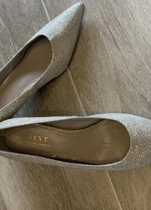Неймовірні туфлі!! блиск золото із сріблом3 фото