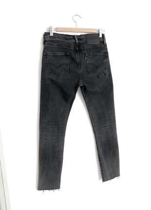 🔥 распродажа 🔥 графитовые темно серые джинсы levis2 фото