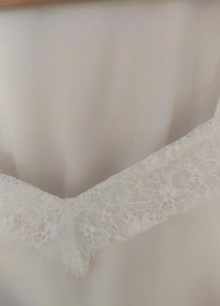Красивая блузка в бельёвом стиле белая рубашка с майкой3 фото