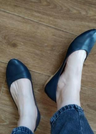 Туфли балетки без каблука