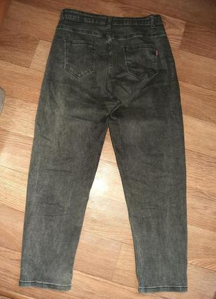 Стильные джинсы момы ( отлично тянутся) размер l-xl.4 фото