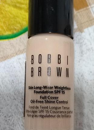 Bobbi brown миниатюра тонального крема тон neutral sand