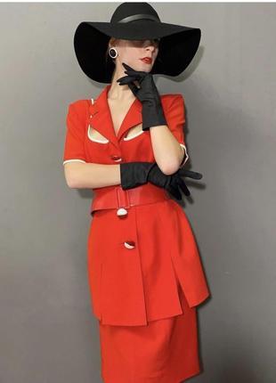 Винтажный брендовый костюм италия стиль ретро фотосессия vintage retro