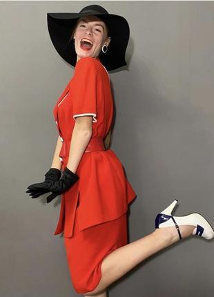 Винтажный брендовый костюм италия стиль ретро фотосессия vintage retro2 фото