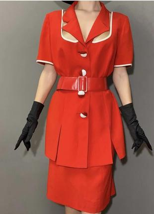 Винтажный брендовый костюм италия стиль ретро фотосессия vintage retro5 фото