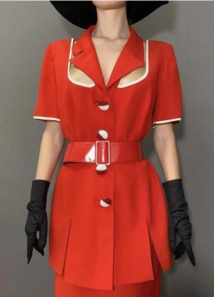 Винтажный брендовый костюм италия стиль ретро фотосессия vintage retro6 фото