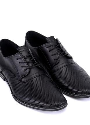 Мужские кожаные  и замшевые летние туфли vankristi