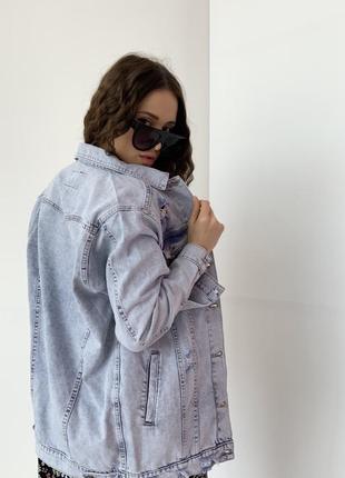 Джинсова куртка оверсайз турция новинка 20212 фото