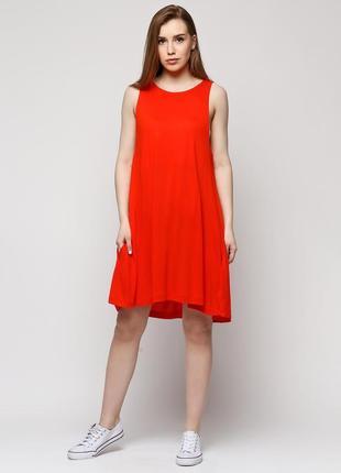 Распродажа! стильное красное платье , сарафан h&m