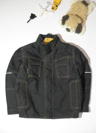 Коричневая теплая деми куртка mascot-128