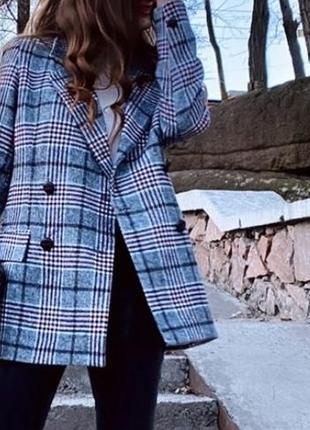 Женский пиджак в клетку, турция, очень стильный