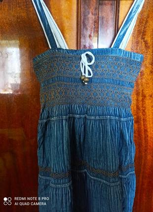 Длинный джинсовый сарафан в пол2 фото