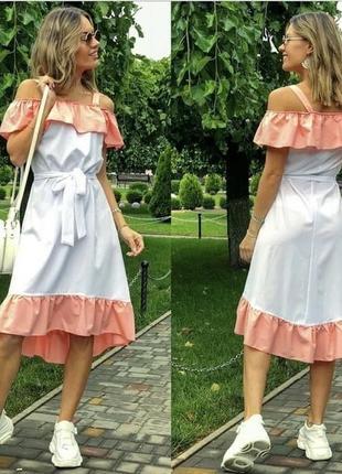 Платье с воланом оверсайз разные цвета