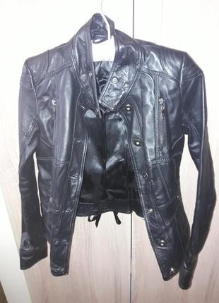 Кожаная курточка ann christine xs