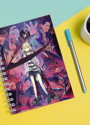 """Скетчбук (sketchbook) для рисования с принтом """"angels of death ангел кровопролития"""""""
