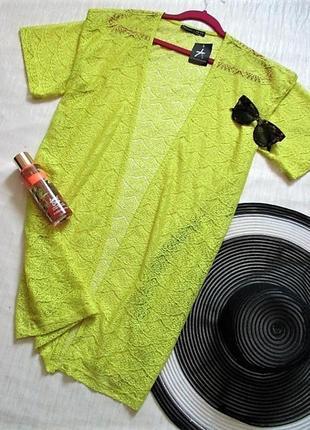Новая с биркой пляжная накидка цвета лайм atmosphere2 фото