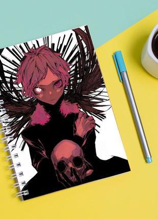"""Скетчбук (sketchbook) для рисования с принтом """"atsushi nakajima ацуши накаджима"""""""