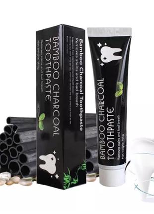 Отбеливающая зубная паста с натуральным бамбуковым углем
