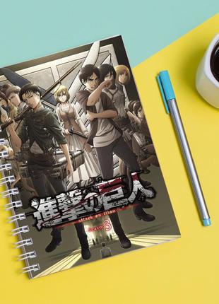 """Скетчбук (sketchbook) для рисования с принтом """"attack on titan - вторжение титанов 1"""""""
