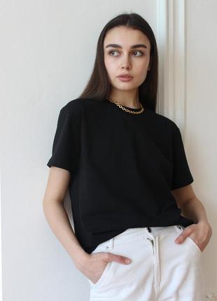 Новая чёрная женская футболка черная