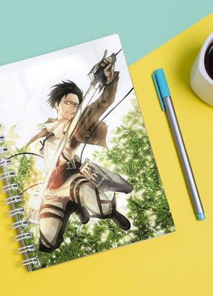 """Скетчбук (sketchbook) для рисования с принтом """"attack on titan - вторжение титанов 3"""""""