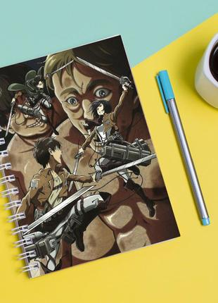 """Скетчбук (sketchbook) для рисования с принтом """"attack on titan - вторжение титанов 4"""""""