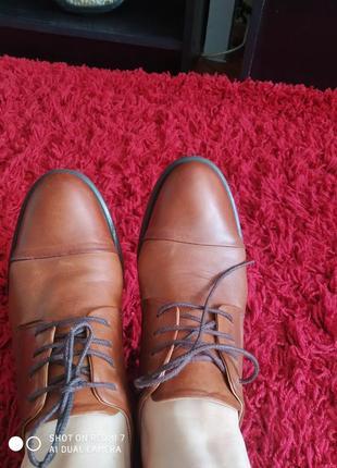 Женские кожаные туфли.