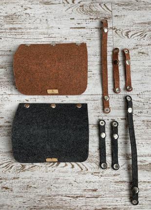Войлочные крышки для сумочки-трансформера figlimon