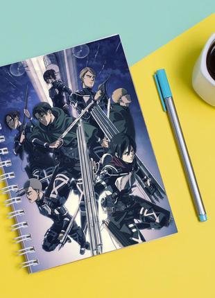 """Скетчбук (sketchbook) для рисования с принтом """"attack on titan - вторжение титанов 7"""""""