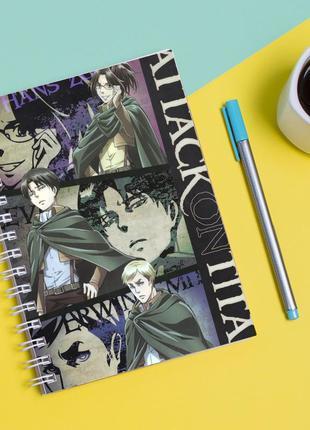 """Скетчбук (sketchbook) для рисования с принтом """"attack on titan - вторжение титанов 9"""""""