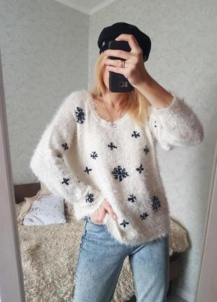 Знижка тільки сьогодні 🔥трендовий пухнастий светр травка оверсайз only6 фото