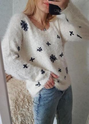 Знижка тільки сьогодні 🔥трендовий пухнастий светр травка оверсайз only5 фото