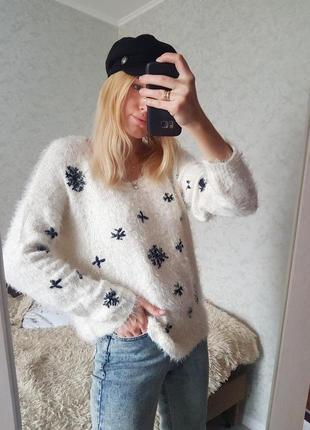 Знижка тільки сьогодні 🔥трендовий пухнастий светр травка оверсайз only4 фото