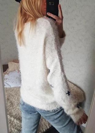 Знижка тільки сьогодні 🔥трендовий пухнастий светр травка оверсайз only7 фото
