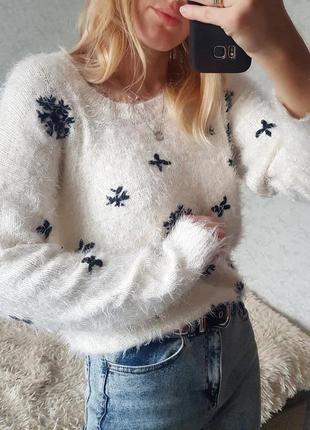 Знижка тільки сьогодні 🔥трендовий пухнастий светр травка оверсайз only2 фото