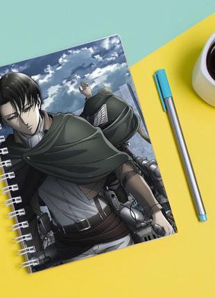 """Скетчбук (sketchbook) для рисования с принтом """"attack on titan - вторжение титанов 10"""""""
