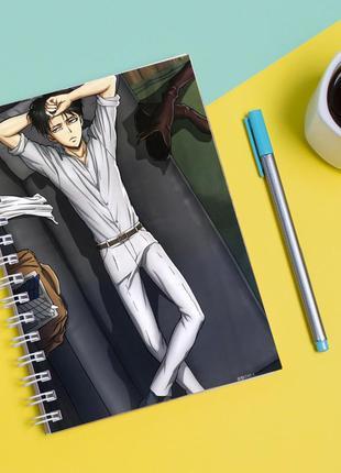 """Скетчбук (sketchbook) для рисования с принтом """"attack on titan - вторжение титанов 13"""""""