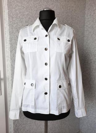 Нарядная белая куртка-пиджак. gina benotti.