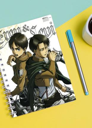 """Скетчбук (sketchbook) для рисования с принтом """"attack on titan - вторжение титанов 14"""""""