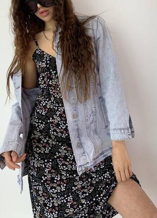 Джинсовка оверсайз жіноча куртка піджак9 фото
