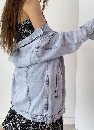 Джинсовка оверсайз жіноча куртка піджак7 фото