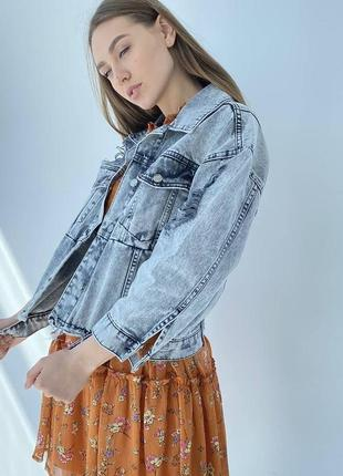 Джинсова куртка оверсайз жіночий піджак2 фото