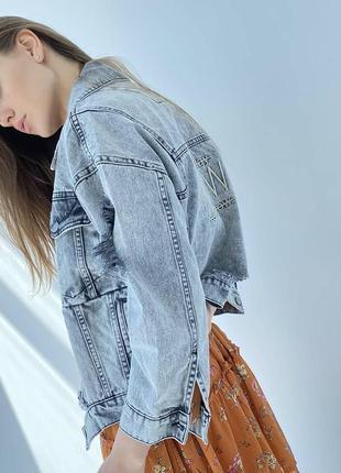 Джинсова куртка оверсайз жіночий піджак5 фото