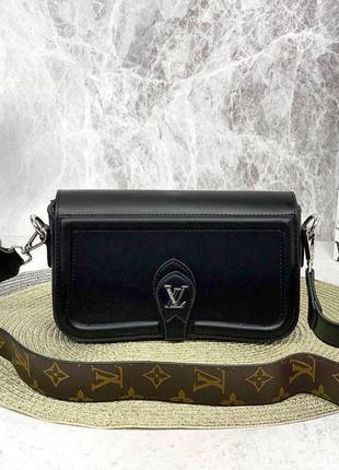 ❤️ стильная кожаная сумка клатч лу